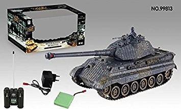 s-idee® 01661 Battle Panzer 1:28 mit integriertem Infrarot Kampfsystem 2.4 Ghz RC R/C ferngesteuert